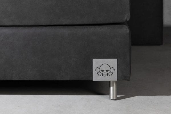 Boxspringset Skully detail box